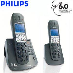 PHILIPS® DECT 6.0 CORDLESS PHONE