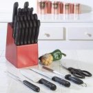 Maxam® 25pc Cutlery Set in Wood Block
