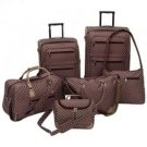 Gigi Chantal™ 6pc Brown Tapestry Luggage Set