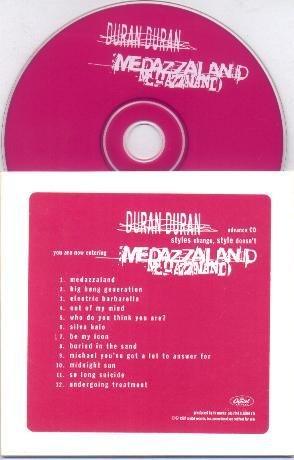 DURAN DURAN MEDAZZALAND ADVANCE CD IN CARD SLEEVE MINT!