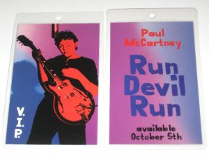 Paul McCartney RUN DEVIL RARE PROMO ONLY LAMINATE PASS!