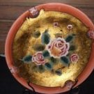 Decorative Rose Plate with Stand