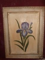 Wooden Picture of an Iris