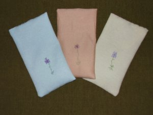 Lavender Embroidered Pillows (Small)