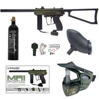 Kingman Spyder MR1 Paintball Gun Military Kit - Olive