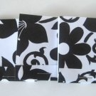 Set of 9 Black and White Floral Matchbook Notebooks