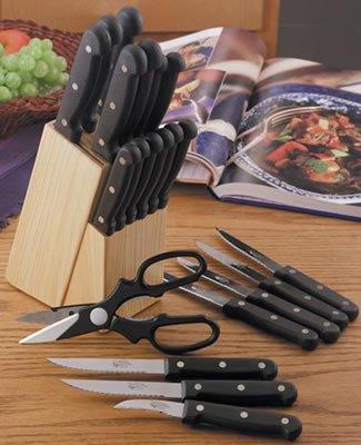 22 piece knife set