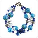 Ocean Blue Bracelet and Earring set