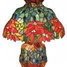 Pointsettias Tiffany styled Table lamp