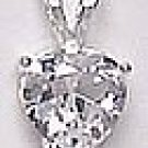 2 CT Heart Shaped CZ Pendant