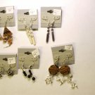 6 pr assorted earrings