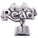 Read pin for teachers pewter  FREE SHIPPING