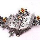 Book with flowers pin FREE SHIPPING