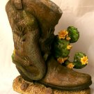 Lizard/Gecko  Western Boot Planter