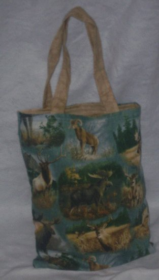 Wild Game Themed Tote Bag