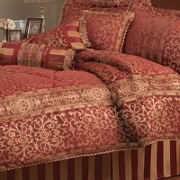 Pem America Macaualy Red Stripe King Comforter Set with Bonus Pillows