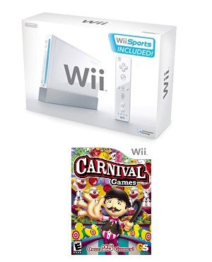 Nintendo Wii Carnival Bundle - With 30 Fun Games