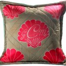 custom shell pillow with initials