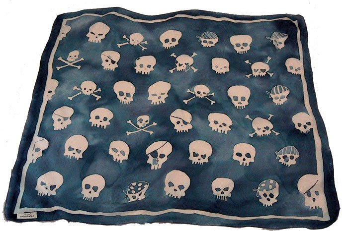 custom hand painted skull scarf