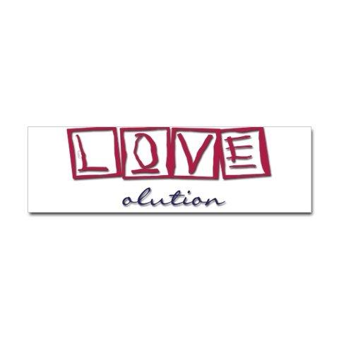 LOVEolution bumper sticker