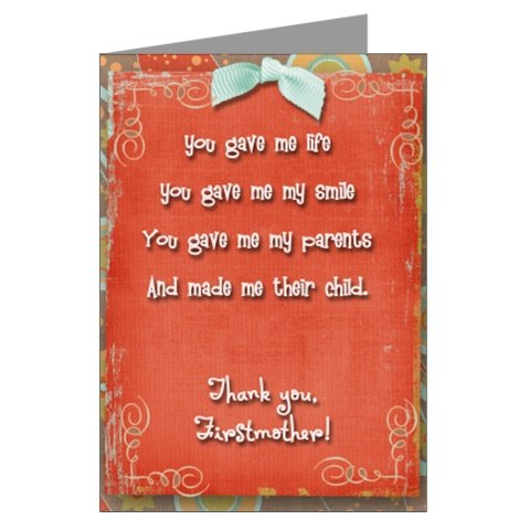 Firstmother Card: Thank you