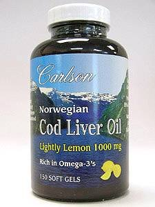 Cod Liver Oil - Lightly Lemon 1000 mg - 150 gels