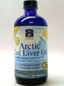 Arctic Cod Liver Oil Liquid - Lemon 8 oz