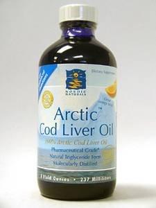 Arctic Cod Liver Oil Liquid - Orange 8 oz