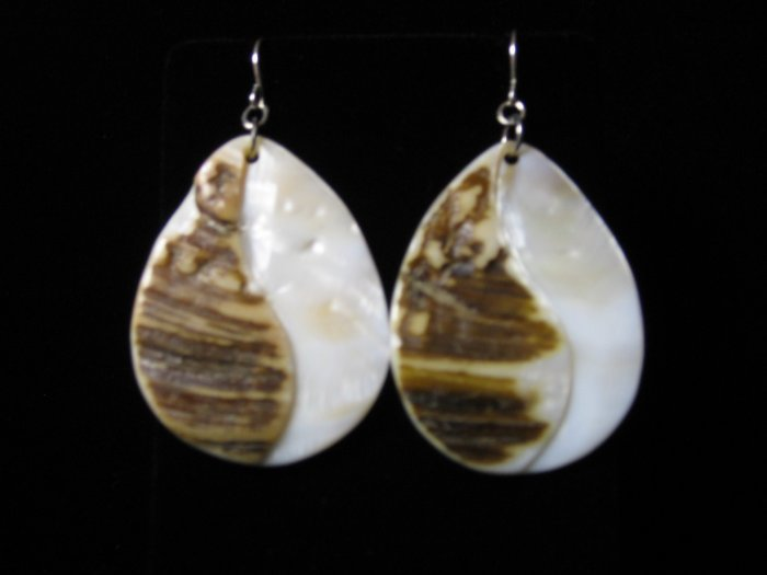 Tear Drop Shell Earrings