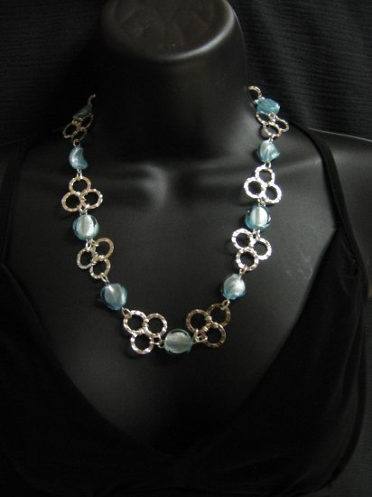 "22"" Blue & Silver Grape Necklace"