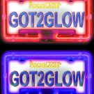 COLOR CHANGING LED LICENSE PLATE