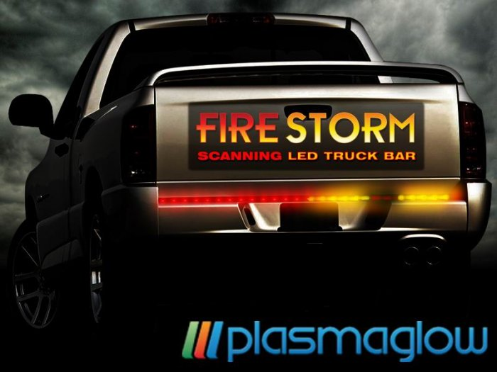FIRESTORM SCANNING LED TAILGATE BAR -  60INCH