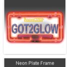 NEON LICENSE PLATE FRAME