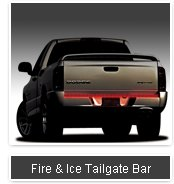 """FIRE &ICE LED TAILGATE BAR (48 """" length for compact trucks)"""
