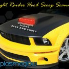 Night Raider Scanning LED Hood Scoop Kit - single scoop
