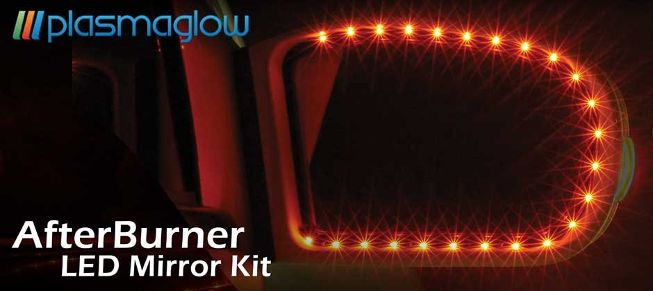 Afterburner LED Mirror Kit - RED- ONE YEAR WARRANTY