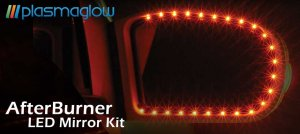Afterburner LED Mirror Kit - WHITE- ONE YEAR WARRANTY