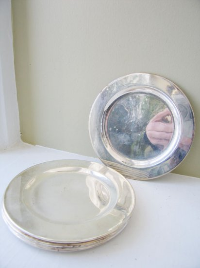 Set 6 Silver Plates - silver plate