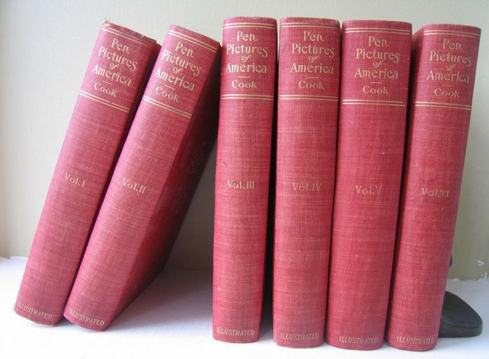 Cook, Joel, Pen Pictures of America, 6 Volume Set, 1900