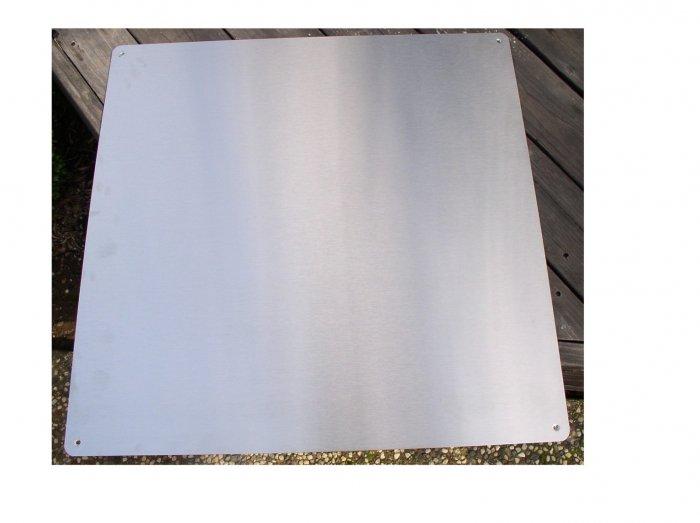 30x30 range hood  brushed stainless steel backsplash