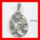 .925 Sterling Silver Marcasite SunFlower Pendants