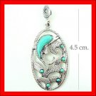 .925 Sterling Silver Turquoise Dolphin Pendants