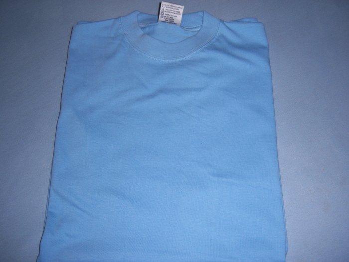 sky blue long T-shirt 2XL