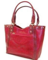 Rina Rich Bolster Handbag - Red