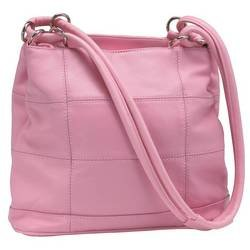 Embassy� Solid Genuine Leather Pink Purse