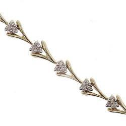 1.0CT Diamond Gold Link Bracelet
