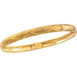 14K Yellow Gold Child's Flex Bangle Bracelet