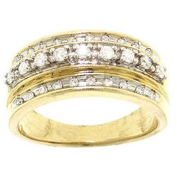 Diamond 10K Gold Fashion Ring
