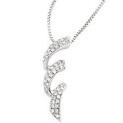 14K White Gold Diamond Fashion Necklace