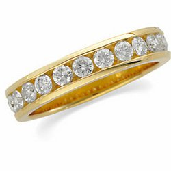 14K Yellow Gold Diamond Band Ring